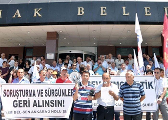 MAMAK BELEDİYESİ'NDEKİ SORUŞTURMA VE CEZALAR PROTESTO EDİLDİ