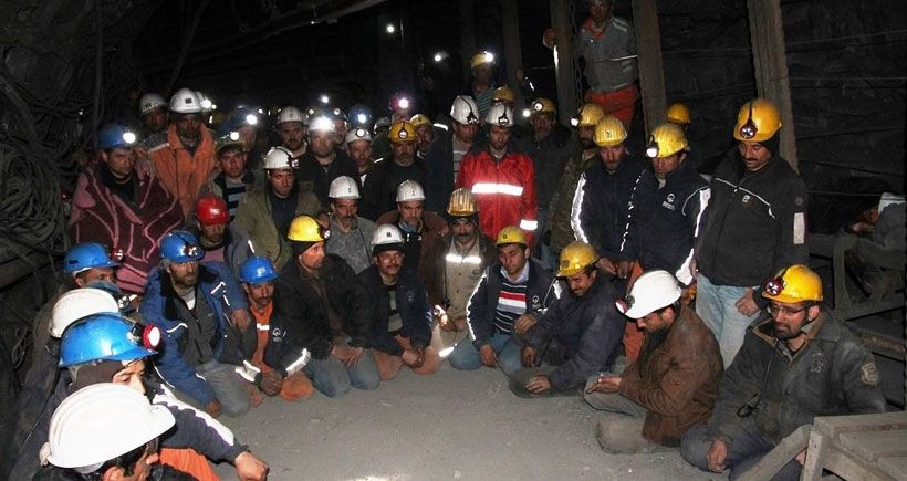 Yeni Çeltek Maden emekçileri, yerin 1200 metre altında açlık grevinde; direniyor!