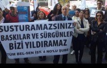 İstanbul 4 nolu Şube Başkanımız ve Üyelerimizin Sürgününe Karşı Basın Açıklaması Gerçekleştirdik
