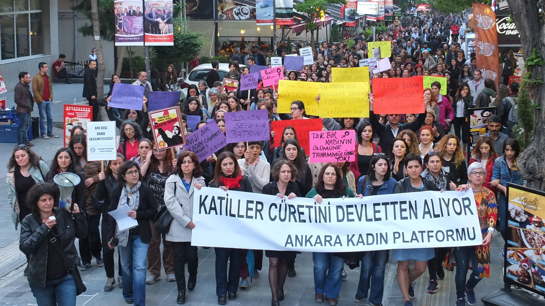 Ankaralı Kadınlar Olarak Konur'da Katledilen Ceren İçin Sokağa Çıktık