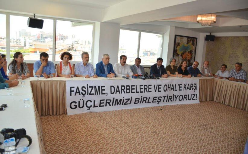 Faşizme, Darbelere ve OHAL'e Karşı: 'Emek Ve Demokrasi İçin Güç Birliği' Kuruldu!