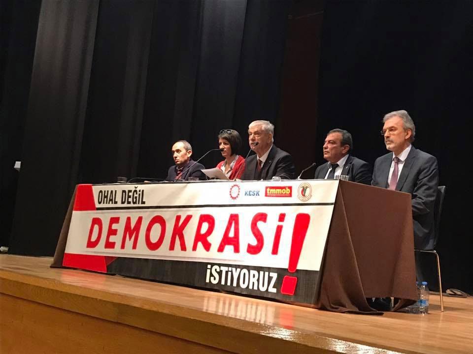 OHAL DEĞİL DEMOKRASİ İSTİYORUZ!