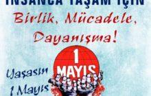 Sendikamızın 1 Mayıs Afiş ve Bildirisi